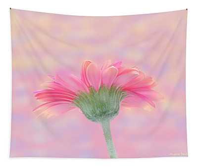 Pink Gerbera Sunrise Tapestry