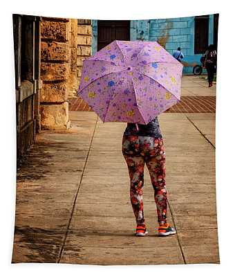 Pink Umbrella Tapestry
