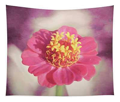 Pink Zinnia Isolated Tapestry