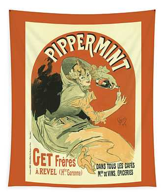 Pippermmint Vintage French Advertising  Tapestry