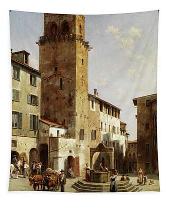 Place In San Gimignano Tapestry