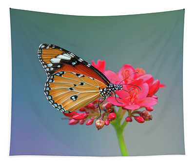 Plain Tiger Or African Monarch Butterfly Dthn0246 Tapestry