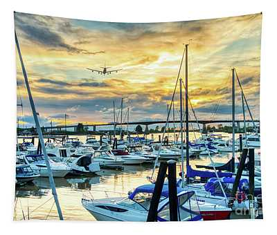 Planes, Trains, Boats And Automobiles Tapestry