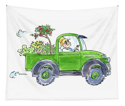 Plant Delivery Tapestry