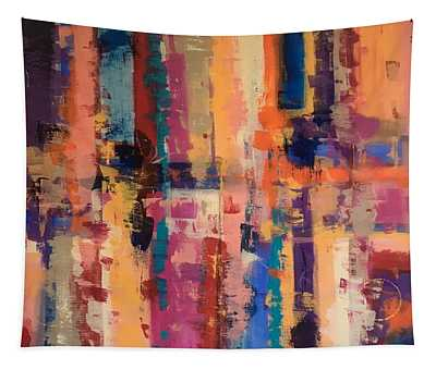 Playful Colors Iv Tapestry