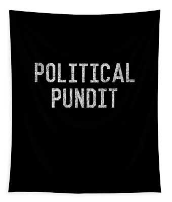 Tapestry featuring the digital art Political Pundit Vintage by Flippin Sweet Gear