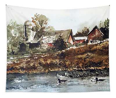 Pond Ducks Tapestry