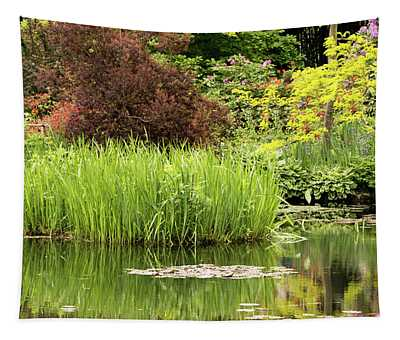 Pond Reflections In Monet's Garden Tapestry
