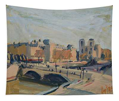 Pont Saint Michel Et Notre Dame Tapestry