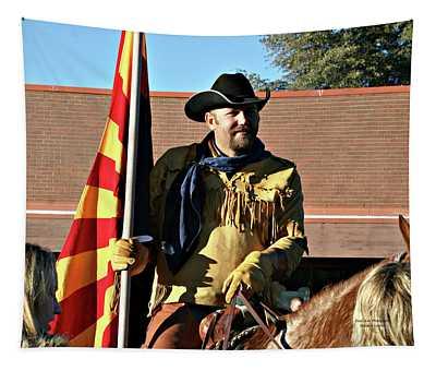 Pony Express Flag Bearer Tapestry