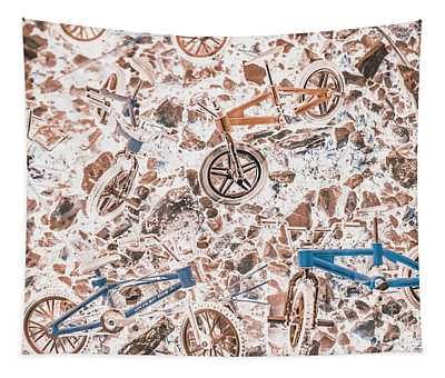 Pop Art Mountain Ride Tapestry