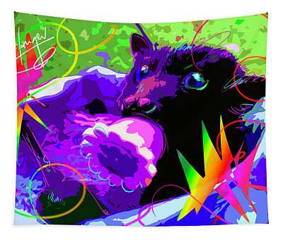 pOp Baby Bat Tapestry