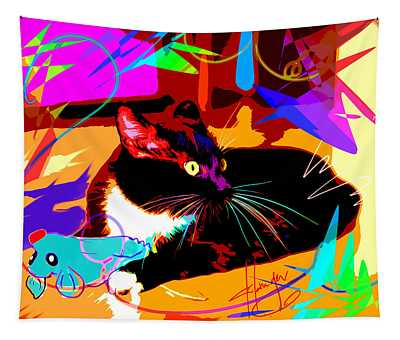 pOp Cat and Mouse Tapestry