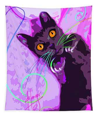 Pop Cat Angel Tapestry