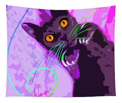 Pop Cat Angel Tapestry