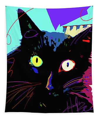 Pop Cat Binx Tapestry