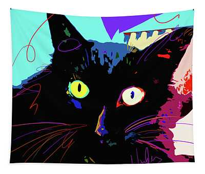 Pop Cat Binx Tapestry