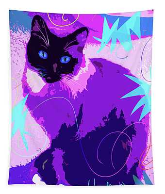 Pop Cat Cocoa Tapestry