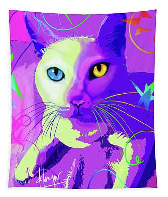 pOp Cat Cotton Tapestry