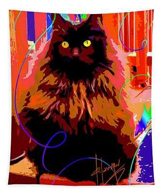Pop Cat Delilah Tapestry
