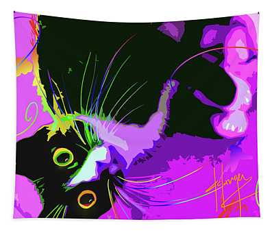 Pop Cat Dotty Tapestry