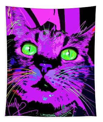 Pop Cat Kali Tapestry