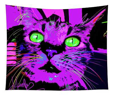 Pop Cat Kali Tapestry