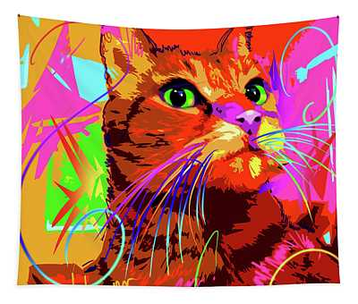 pOp Cat Kasey Tapestry