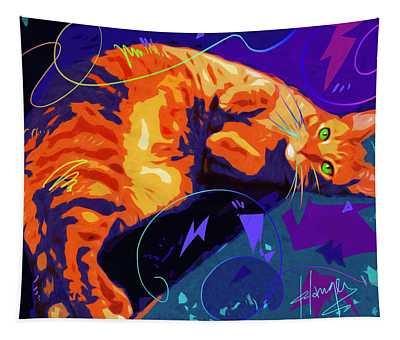 Pop Cat Miles Tapestry
