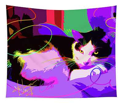 Pop Cat Stitch Tapestry