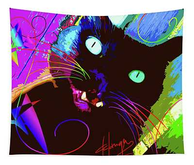pOp Cat The Tarantula Tapestry