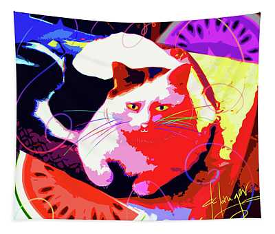 Pop Cat Toby Tapestry