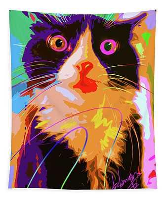 Pop Cat Tux Tapestry