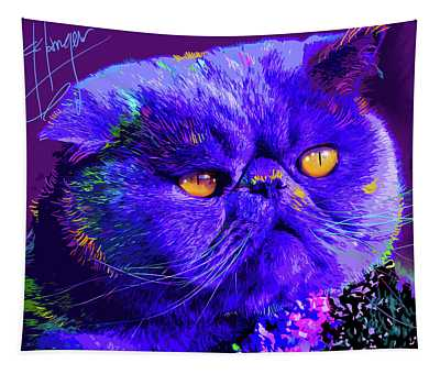pOpCat Captain Blue Chip Tapestry