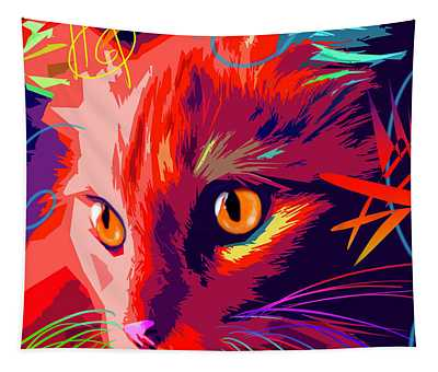 pOpCat OK- Orange Kitty Tapestry