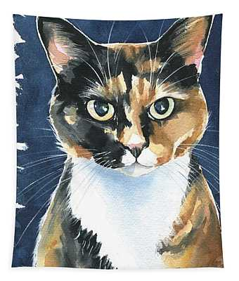 Poppy Calico Cat Painting Tapestry