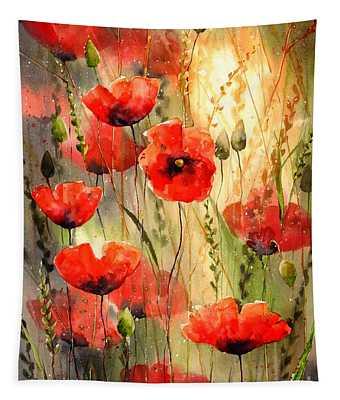 Poppy Serenade Tapestry