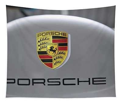 Porsche Logo Tapestry