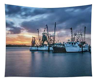 Port Orange Fishing Boats Tapestry