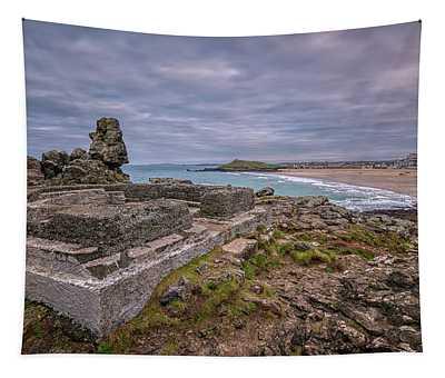Porthmeor Beach January View Tapestry