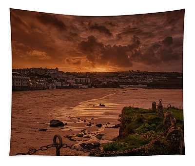 Porthmeor Sunset 2 Tapestry