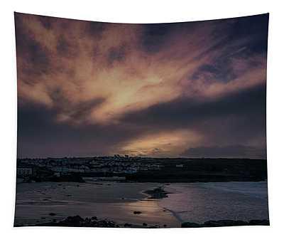 Porthmeor Sunset 4 Tapestry
