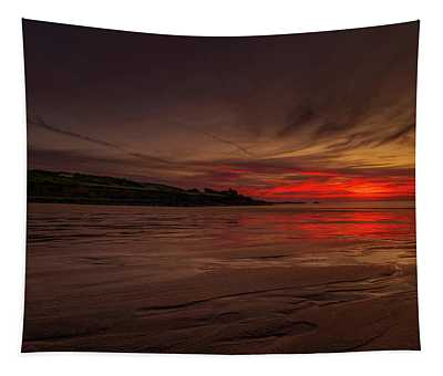 Porthmeor Sunset Tapestry