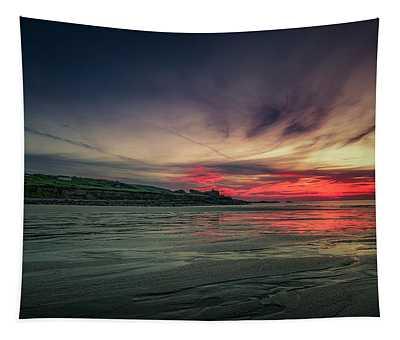 Porthmeor Sunset Version 2 Tapestry