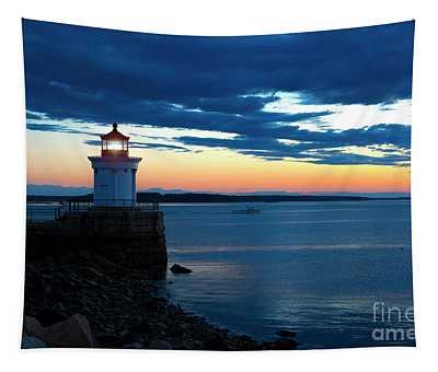 Portland Breakwater Light Tapestry