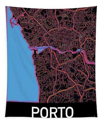 Porto City Map Tapestry