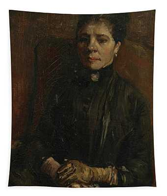 Portrait Of A Woman - 1 Tapestry