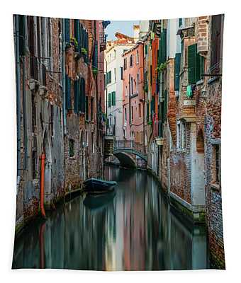Tapestry featuring the photograph Postcard From Venice - Canals by Jaroslaw Blaminsky