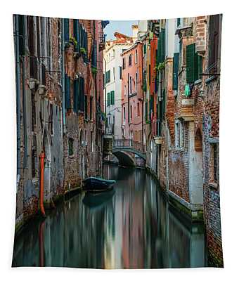 Postcard From Venice - Canals Tapestry