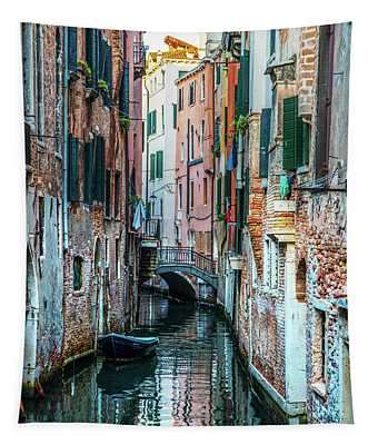 Tapestry featuring the photograph Postcards From Venice II by Jaroslaw Blaminsky
